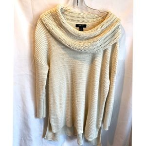 Off White Cowl Neck Sweater